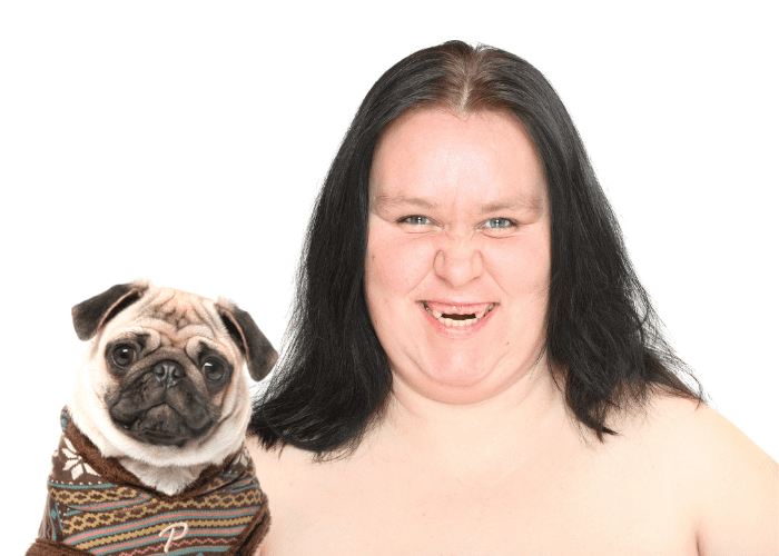 pug ugly person